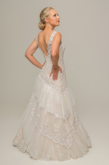 Ilse Roux bridal, Bellville, Cape Town, Blush wedding gown,